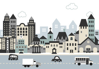 City illustration C