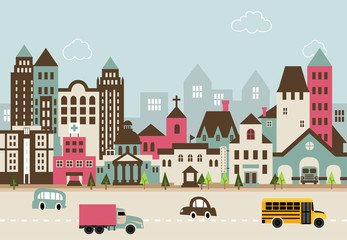 City illustration B