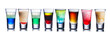 Leinwandbild Motiv Colorful shot drinks
