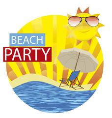 sun summer  beach party