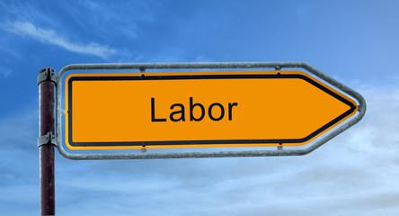 Strassenschild 8 - Labor