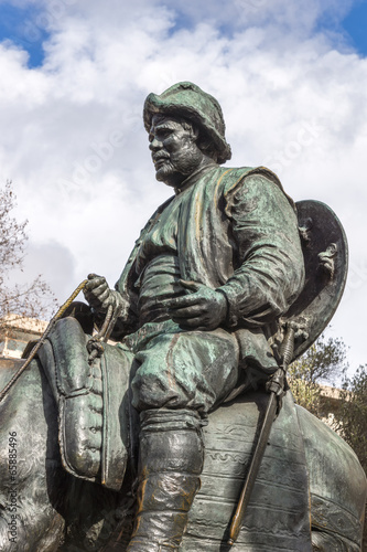Sancho Panza from monument to Cervantes and heroes of his books
