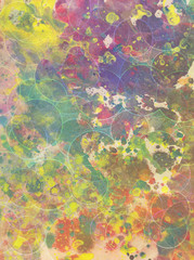 Artistic grunge background with splats