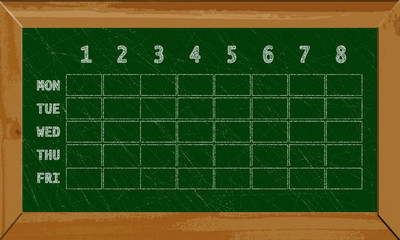 Timetable - Chalkboard design
