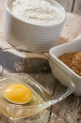 egg flour sugar baking products