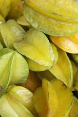 Fresh Yellow Carambola Star Fruit at Brazilian Farmers Market