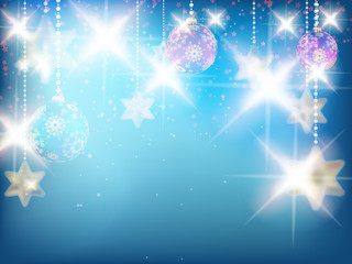 Christmas decoration Background with stars.