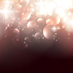Elegant Christmas background with golden stars.