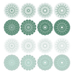 High quality rossete vector elements.
