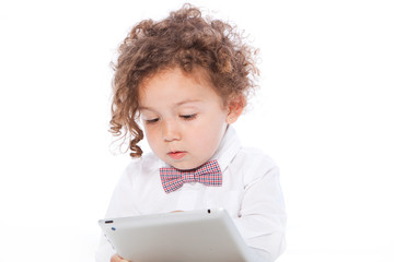 Young Kid Using Tablet