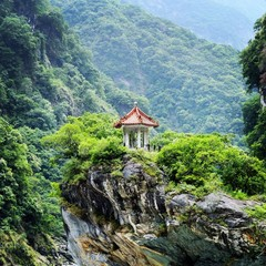 Traditional Chinese Pavillion at Taroko National Park in Taiwan.