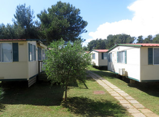 mobil homes in a camping