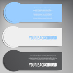 Vector abstract circles template banner.  design