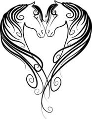 Pferdekopf-Herz