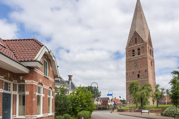 Medieval church from 1289  with a cemented roof in Schildwolde N