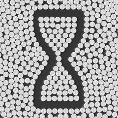 pills concept: hourglass