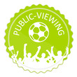 Schild grün Public Viewing