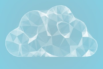Angular cloud design in white