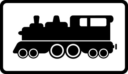 isolated black train
