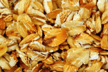 Oat Flakes Close-Up