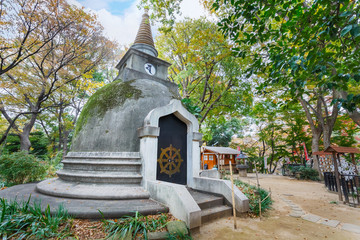"""""""Chedi""""  at the great Buddha hill in Ueno Park"""