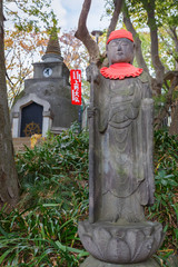 Jizo at the great Buddha hill in Ueno park in tokyo