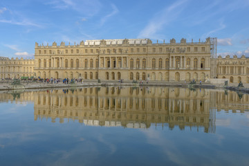 versailles Chateau  and reflection in fountain
