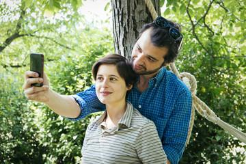 lovers selfie social