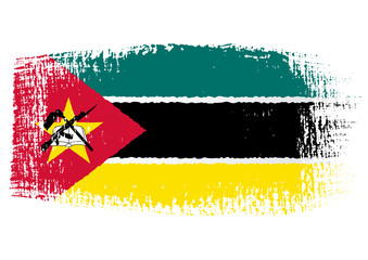 brushstroke flag Mozambique