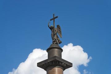 Ангел на Александровской колонне. Санкт-Петербург