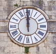 Leinwandbild Motiv Schlag Zwölf,  Uhr, Toskana