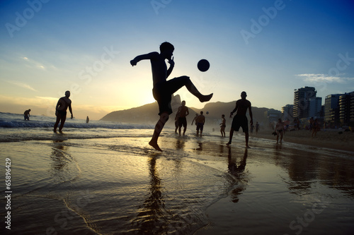 Brazilians Playing Kick-Ups Altinho Beach Football Rio