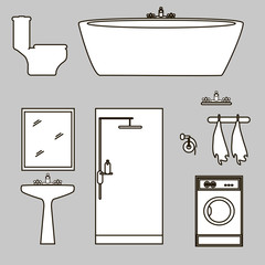bathroom furniture icons