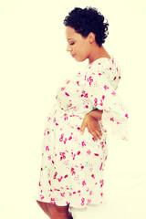 Pregnant woman heaving back pain