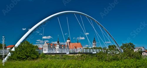 Leinwanddruck Bild Dessau Stadtpanorama
