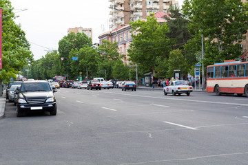 One of the central streets of Yerevan