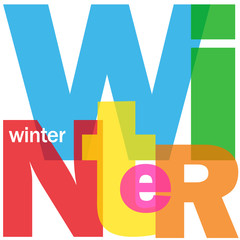 """WINTER"" (season spring summer autumn year holidays snow)"