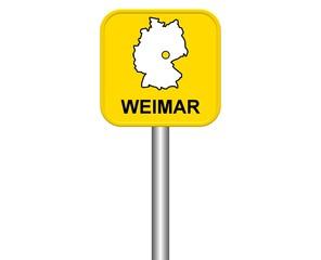 Ortseingangsschild: Weimar
