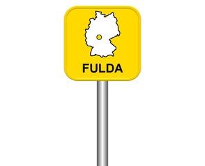 Ortseingangsschild: Fulda