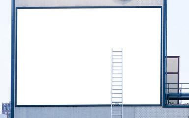 Empty billboard with ladder