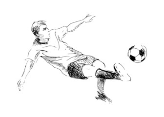 Hand sketch soccer. Vector illustration