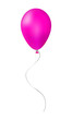 Pink balloon isolated on white