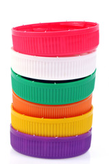 Pile de bouchons en couleur