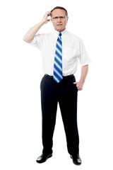 Man posing against a white background
