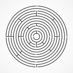 Maze, circle, vector illustration