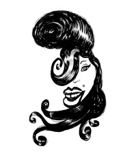 Amy Winehouse caricature