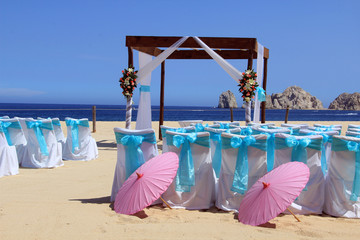 Beach wedding, also available in vertical.