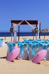 Beach wedding, also available in horizontal.