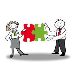 Teamwork, Puzzle, Lösung