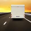 Reisemobil auf dem Highway